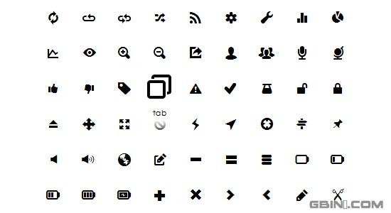 图标字体是字体文件,用符号和字形的轮廓(像箭头、文件夹、放大镜等) 代替标准的文字数字式字符。图标字体就像Dingbat fonts,是专门为用户界面设计,就像其它网站字体一样,使用CSS@font-face在web浏览器里展示。处理方式类似网站字体:
